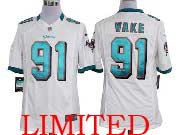 Mens Nfl Miami Dolphins #91 Wake White Limited Jersey