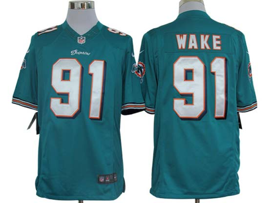 Mens Nfl Miami Dolphins #91 Wake Green Limited Jersey