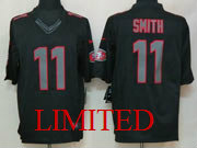 Mens Nfl San Francisco 49ers #11 Smith Black Impact Limited Jersey