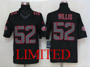 Mens Nfl San Francisco 49ers #52 Willis Black Impact Limited Jersey