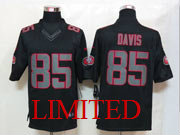 Mens Nfl San Francisco 49ers #85 Davis Black Impact Limited Jersey