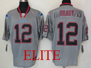 mens nfl New England Patriots #12 Tom Brady gray (light out) elite jersey