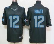 mens nfl New England Patriots #12 Tom Brady black impact limited jersey