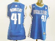 Women  Nba Dallas Mavericks #41 Nowitzki Blue Jersey