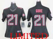 Women  Nfl San Francisco 49ers #21 Gore Black Impact Limited Jersey