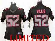 Women  Nfl San Francisco 49ers #52 Willis Black Impact Limited Jersey