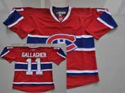 Mens reebok nhl montreal canadiens #11 gallagher red (ch) Jersey