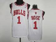 Mens NBA Chicago Bulls #1 ROSE WHITE Revolution 30 MESH JERSEY