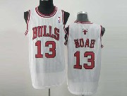 Mens Nba Chicago Bulls #13 Noah White Revolution 30 Mesh Jersey
