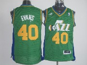 Mens Nba Utah Jazz #40 Evans Green Jersey