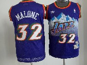 Mens Nba Utah Jazz #32 Malone Purple Snowberg Hardwood Throwback Jersesy