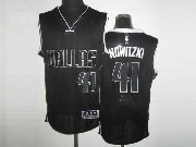Mens Nba Dallas Mavericks #41 Nowitzki Black&black Number Revolution 30 Mesh Jersey