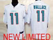 Mens Nfl Miami Dolphins #11 Wallace (2013 New) White Limited Jersey