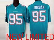 Mens Nfl Miami Dolphins #95 Jordan (2013 New) Green Limited Jersey