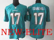 Mens Nfl Miami Dolphins #17 Tannehill (2013 New) Green Elite Jersey