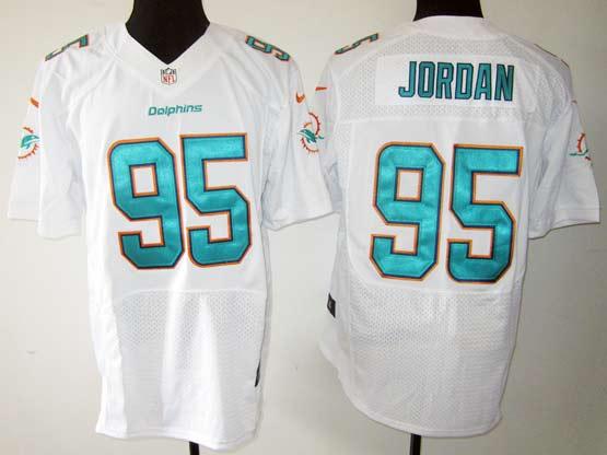 Mens Nfl Miami Dolphins #95 Jordan White (2013 New) Elite Jersey