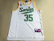 Mens Nba Seattle Supersonics #35 Durant Full White Jersey (m)