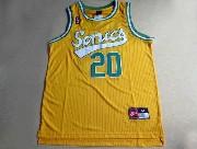 Mens Nba Seattle Supersonics #20 Payton Full Yellow Jersey (m)