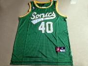 Mens Nba Seattle Supersonics #40 Kemp Full Green Jersey (m)