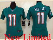 Women  Nfl Miami Dolphins #11 Wallace Green (2013 New) Limited Jersey