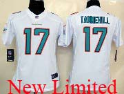 Women  Nfl Miami Dolphins #17 Tannehill White (2013 New) Limited Jersey