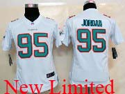 Women  Nfl Miami Dolphins #95 Jordan White (2013 New) Limited Jersey