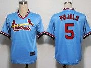 Mens mlb st.louis cardinals #5 pujols blue cooperstown throwbacks Jersey
