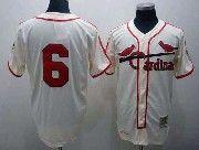 Mens mlb st.louis cardinals #6 musial cream throwbacks Jersey