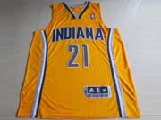 Mens Nba Indiana Pacers #21 West Yellow Revolution 30 Mesh Jersey