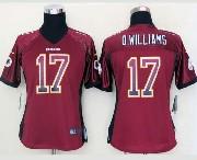 Women  Nfl Washington Redskins #17 D.williams Drift Fashion Red Elite Jersey