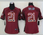 Women  Nfl Washington Redskins #21 Taylor Drift Fashion Red Elite Jersey