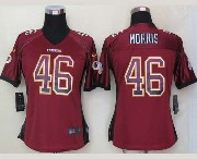 Women  Nfl Washington Redskins #46 Morris Drift Fashion Red Elite Jersey