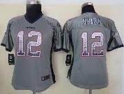 women  nfl New England Patriots #12 Tom Brady gray drift fashion elite jersey