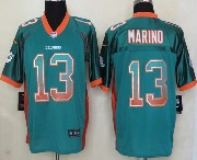 Mens Nfl Miami Dolphins #13 Marino Drift Fashion Green Elite Jersey