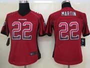 Women  Nfl Tampa Bay Buccaneers #22 Martin Red Drift Fashion Elite Jersey