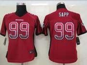 Women  Nfl Tampa Bay Buccaneers #99 Sapp Red Drift Fashion Elite Jersey