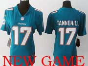 Women  Nfl Miami Dolphins #17 Tannehill Green (2013 New) Game Jersey