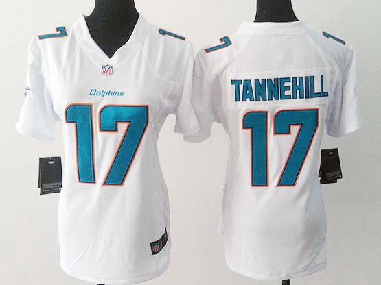Women  Nfl Miami Dolphins #17 Tannehill White (2013 New) Game Jersey