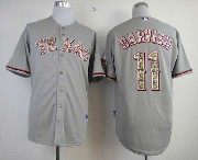 Mens Mlb Texas Rangers #11 Darvish Gray Camo Number Jersey