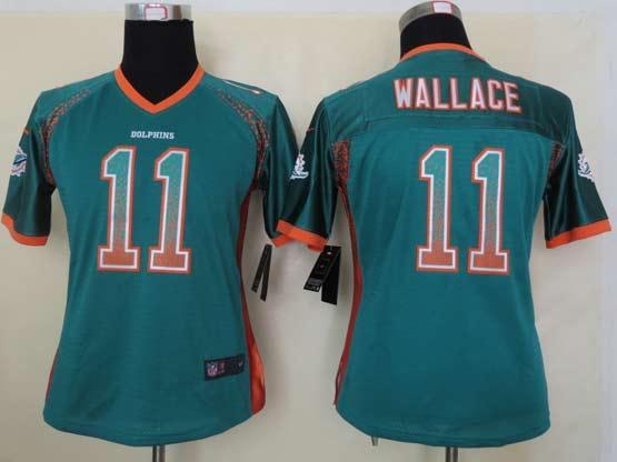 Women  Nfl Miami Dolphins #11 Wallace Green Drift Fashion Elite Jersey