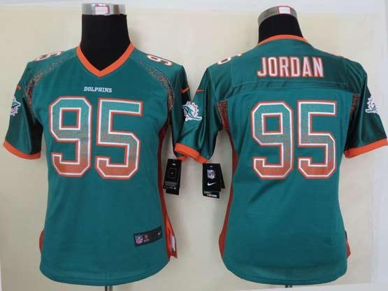 Women  Nfl Miami Dolphins #95 Jordan Green Drift Fashion Elite Jersey