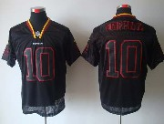 Mens Nfl Washington Redskins #10 Griffin Iii Black (lights Out) Elite Jersey