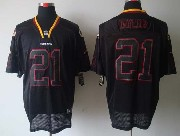 Mens Nfl Washington Redskins #21 Taylor Black (lights Out) Elite Jersey