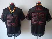 Mens Nfl Washington Redskins #23 Hall Black (lights Out) Elite Jersey
