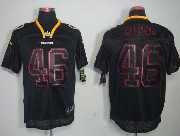 Mens Nfl Washington Redskins #46 Morris Black (lights Out) Elite Jersey