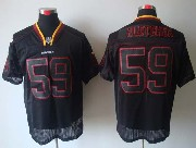 Mens Nfl Washington Redskins #59 Fletcher Black (lights Out) Elite Jersey