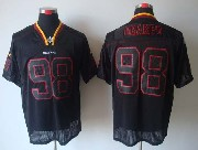 Mens Nfl Washington Redskins #98 Orakpo Black (lights Out) Elite Jersey