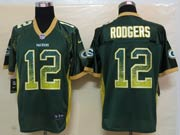 mens nfl Green Bay Packers #12 Aaron Rodgers green drift fashion elite jersey