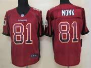 Mens Nfl Washington Redskins #81 Monk Drift Fashion Red Elite Jersey
