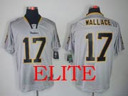 Mens Nfl Pittsburgh Steelers #17 Wallace Gray (light Out) Elite Jersey